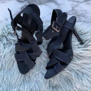 Zara Navy Strappy Heel